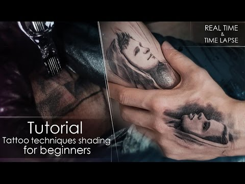 Tutorial - How to tattoo techniques shading - for beginners REAL ...