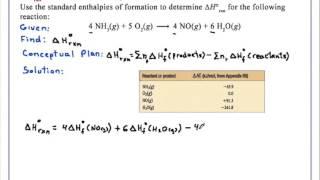 ΔH°rxn and Standard Enthalpies of Formation Chemistry