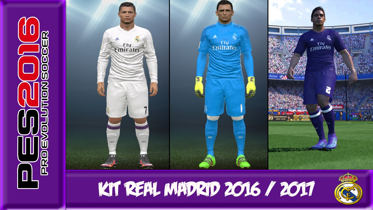 8a0ebc5434c PES 2016 | New kit Real Madrid 2016 / 2017 | Full HD by The Shooter96