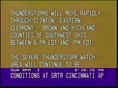 Local Forecast April 3, 1988 6:25 PM