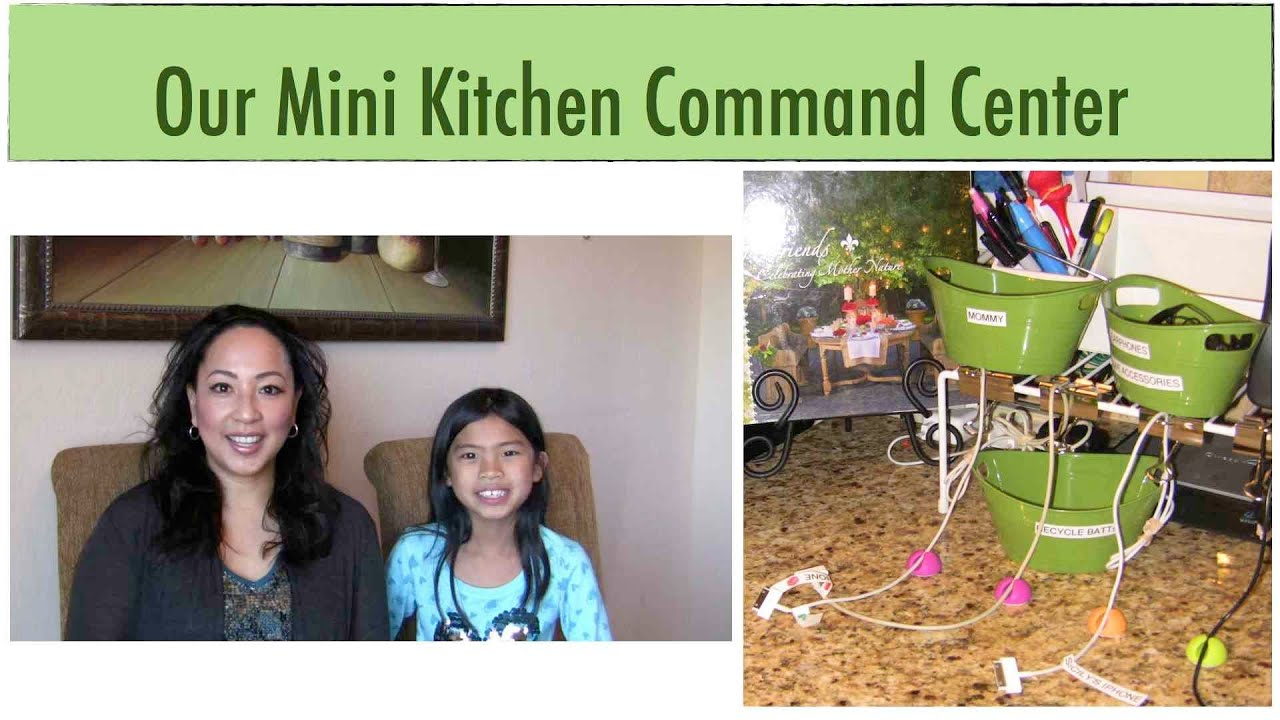 How Our Family Stays Organized: Our Mini Kitchen Command Center {how To  Organize}