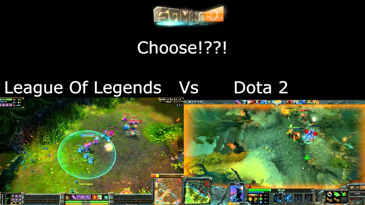 league of legends vs dota 2 youtube