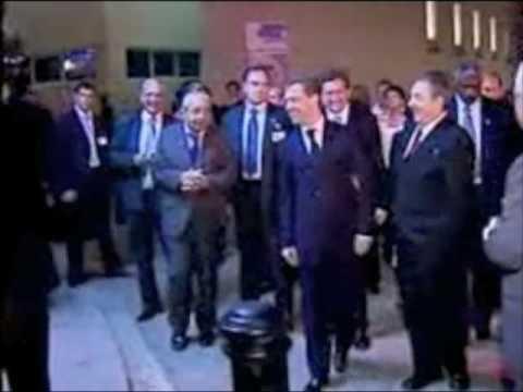 Russischer Präsident Medwedew in Cuba