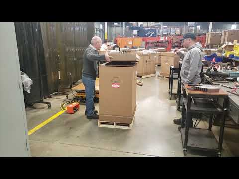 How to Unbox and Unload a Charging Cart off a pallet