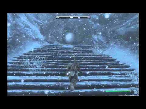 Elder Scrolls Skyrim Word of Power Shout Location Statue Ice Form ...