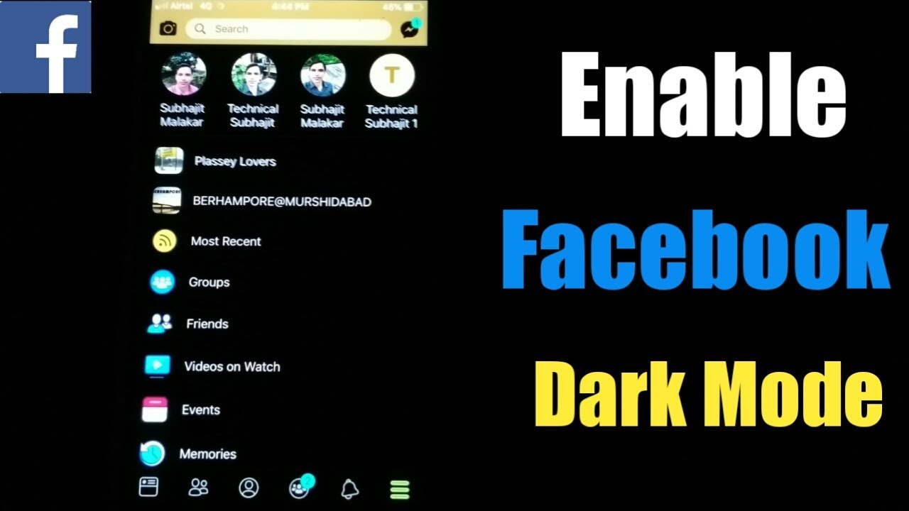 How To Enable Dark Mode On Facebook 2019 | Activate Facebook Dark Theme  iPhone | iPhone Dark Mode