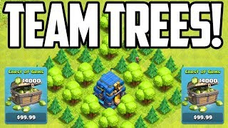GEM That Rush to MAX for TEAM TREES! Clash of Clans