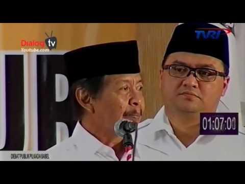 DEBAT PUBLIK CAGUB CAWAGUB PROVINSI KEPULAUAN BANGKA BELITUNG SESI KE II