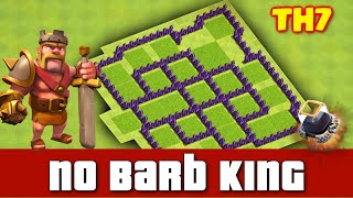 Clash Of Clans - Town Hall 7 (th7) Dark Elixir Farming Base Without Barbarian King [July 2016]