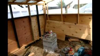 Building of the chicken house - coop phase 1