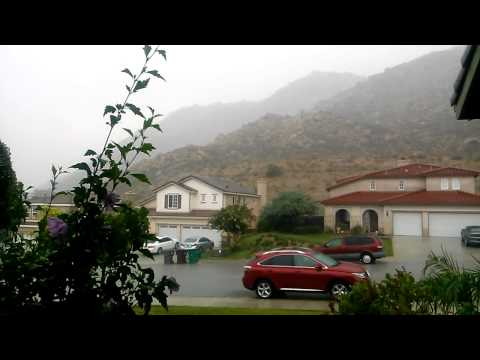 Flash Storm in Moreno Valley, CA