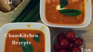 Tomaten Nudel Suppe - Tomato Noodle Soup, Schnell, Lecker Und Bekömmlich... Suppe..