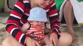 Funny babies laughing video