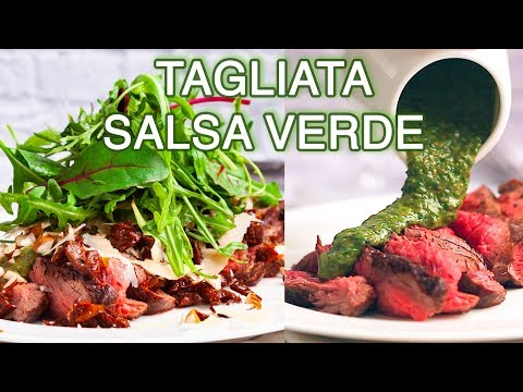 Beef Tenderloin With Salsa Verde | Tagliata With Sauce, Sun-Dried Tomatoes, Parmesan And Nuts