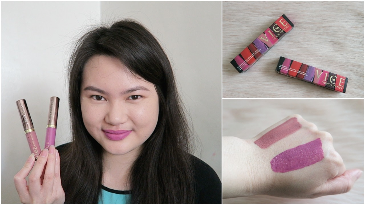 Urban Decay Vice Liquid Lipstick Backtalk Zz Review Swatches