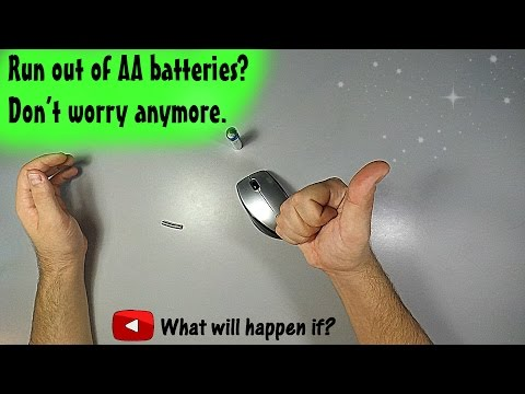 Run out of AA batteries? Don't worry anymore. (Magnet)