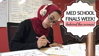 MED SCHOOL FINALS WEEK! (behind the scenes)