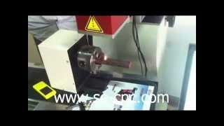 Co2 Laser Marking On Wood With Rotary Clamp,co2 Laser Engraving Machine
