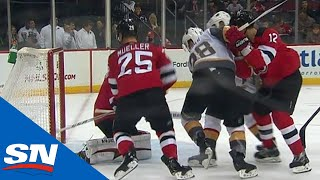 Devils' Mueller Makes Great Heads-up Play to Save A Goal