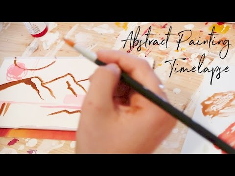 Abstract Painting Timelapse ♥ Paige Poppe, Artist
