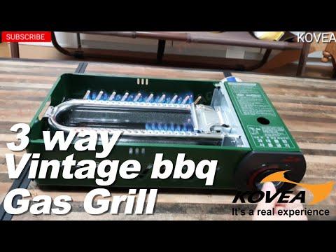 Kovea - 3Way Vintage BBQ Gas Grill M Unboxing 코베아 - 3웨이 빈티지 바비큐 가스 그릴 M 개봉기