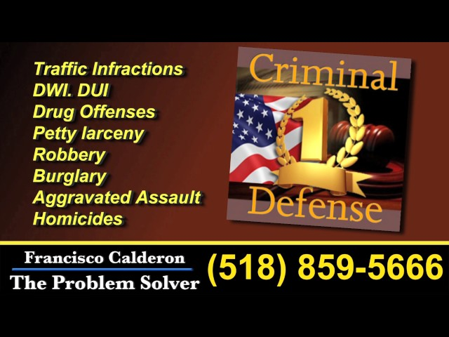 Francisco Calderon  Lawyer in Albany TV Commercial