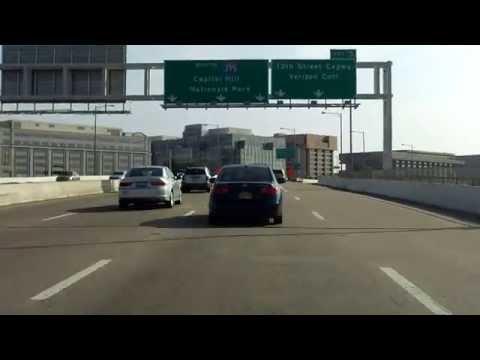 Southwest Freeway (Interstate 395 Exits 1 to 6) northbound