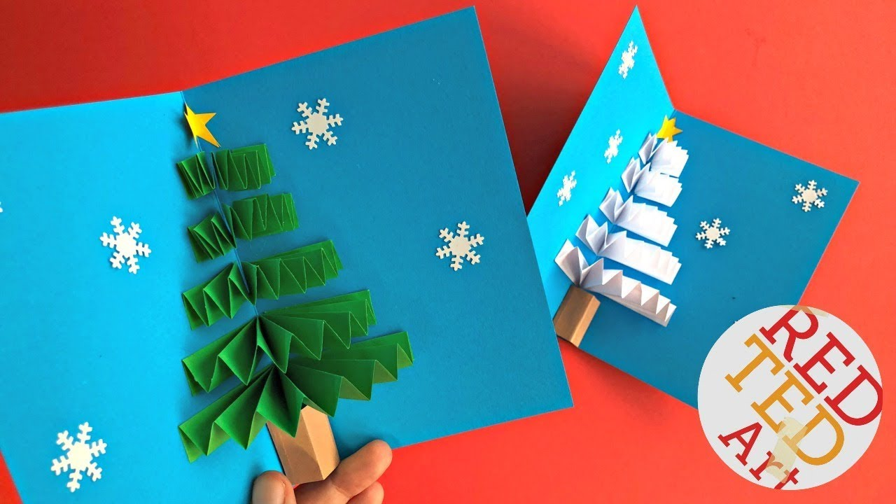 DIY Pop Up Christmas Card - YouTube