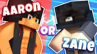Would You Date Aaron or Zane? - [MINECRAFT - WOULD YOU RATHER?] Video