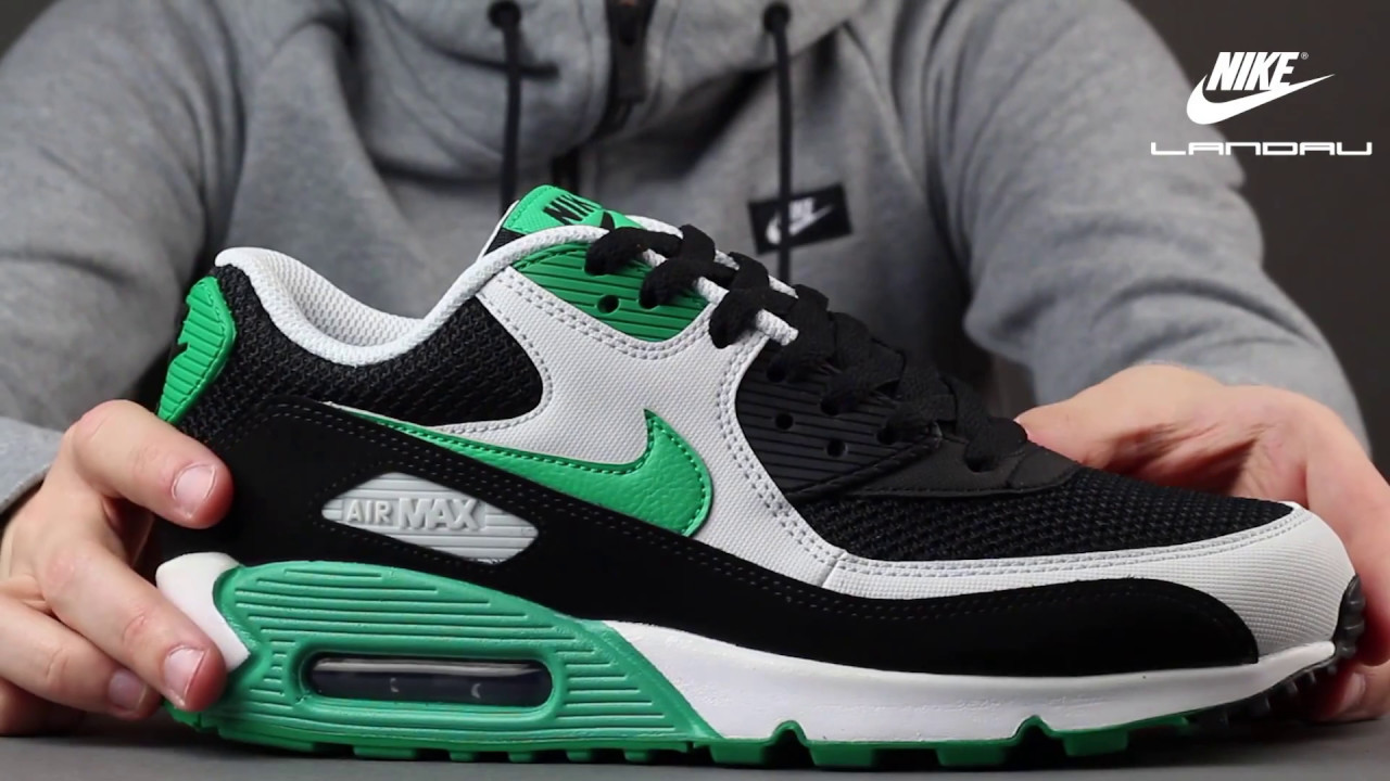 size 40 bbffc 04a65 NIKE AIR MAX 90 ESSENTIAL BLACK STADIUM GREEN MEN S SHOES