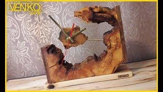 Wooden desk clock LOFT   Деревянные настольные часы ЛОФТ