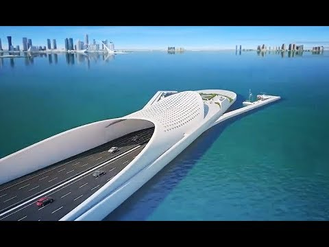 The Doha Sharq Crossing :  Qatar Extraordinary Mega Project - Most Beautiful Bridge In Middle East