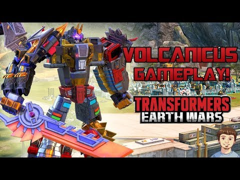 VOLCANICUS Gameplay!!! | Transformers: Earth Wars - The Dinobots Combiner!