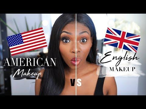 AMERICAN VS ENGLISH MAKEUP! I Hope I'm not offending anyone!