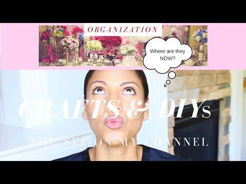 CRAFTS ORGANIZATION IDEAS | HOW I STORE & ORGANIZE MY CRAFTS & DIYs