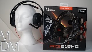 A MODULAR GAMING HEADSET? - Plantronics RIG 515HD Lava Unboxing, Review and Mic Test