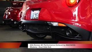 Alfa Romeo 4C Performance Exhaust by MADNESS - Modena - Dual Side Exit (Sound Clip)