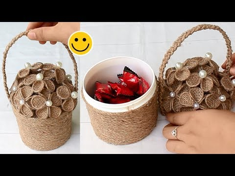 5 Smart ideas with jute rope | Home decor handmade 2019