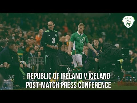 Republic of Ireland v Iceland Post-match press conference