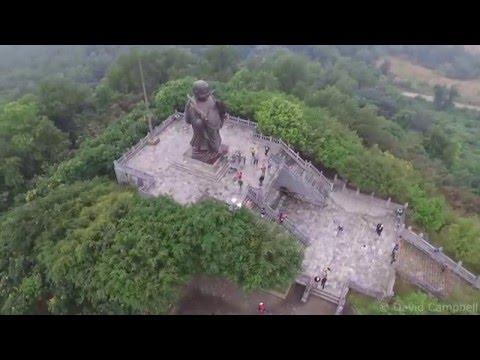 Drone Camera footage of Chùa Bái Đính Bai Dinh Temple, Ninh Bình, Vietnam