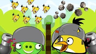 Angry Birds Collection Cannon 2 - OVERDRIVE SHOOT 100 PIGS AND FORCE STONE TO BAD PIGS!