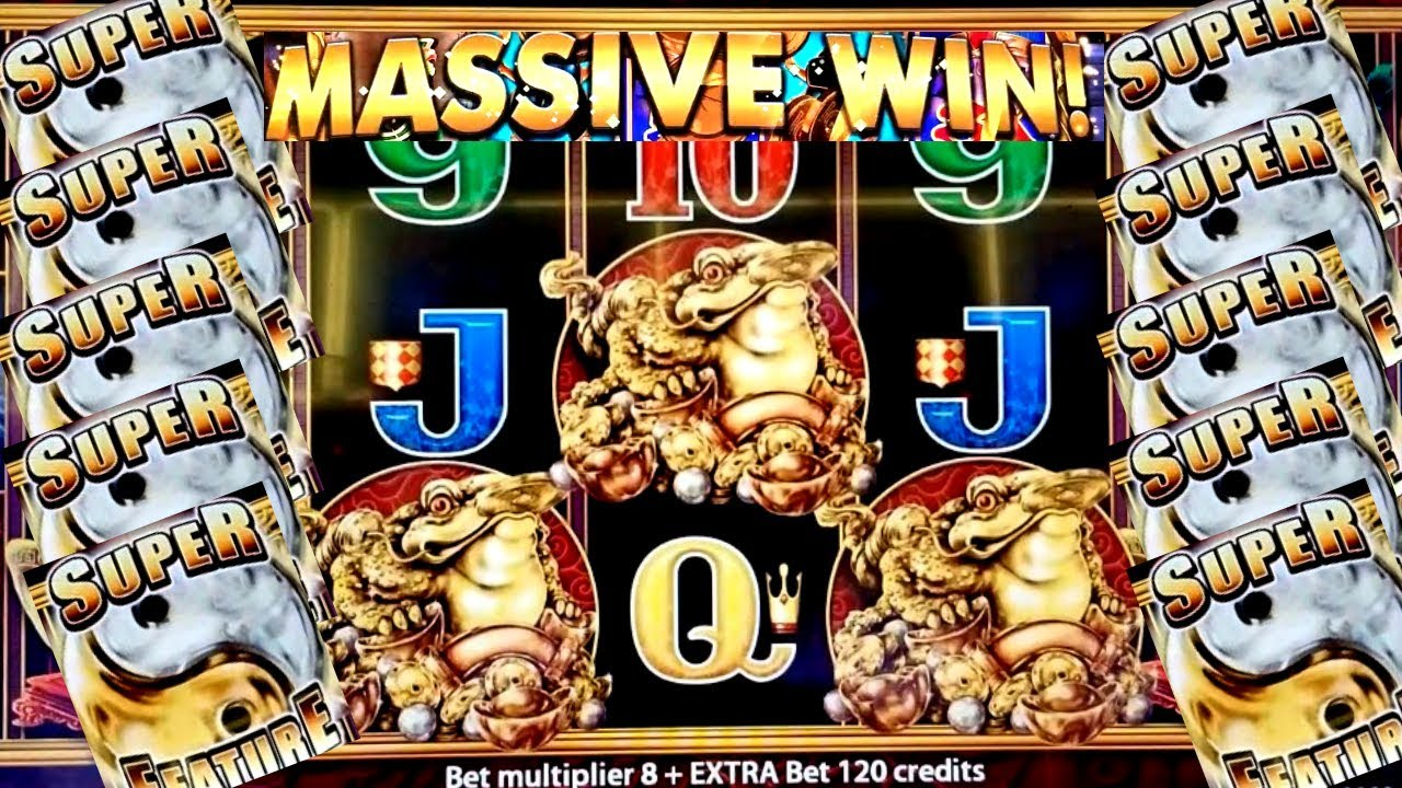5 Frogs Slot Machine Bonus HUGE Win | Aristocrat Slot