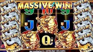 MASSIVE SLOT WIN ! 5 Frogs Slot Machine Bonus HUGE Win |280x WIN | Live Slot Play | Aristocrat Slot