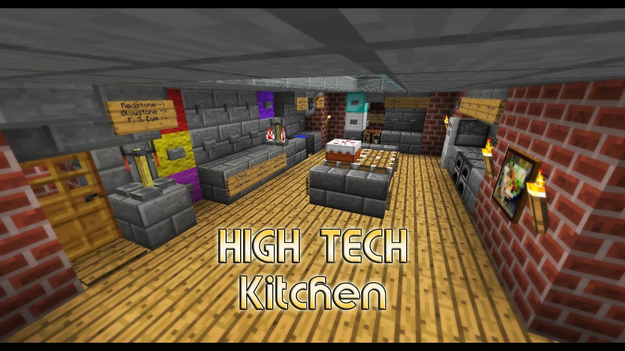 Minecraft Kitchen Mod 1.8 High Tech Kitchen House Small And Easy Minecraft