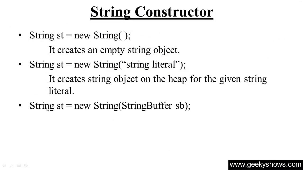 251 string constructor in java programming hindi youtube string constructor in java programming hindi baditri Image collections