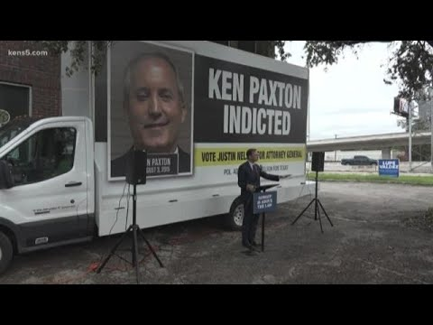 'Mugshot mobile' featuring Texas Attorney General Ken Paxton makes stop in San Antonio