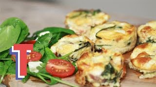 Crustless Quiche Cups | We Heart Food S1e2/8