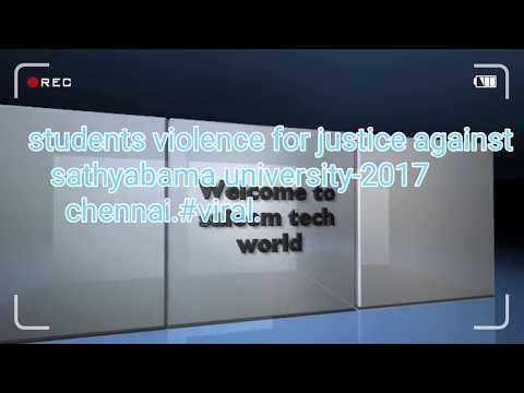 students violence for justice against sathyabama university-2017 chennai.#viral.