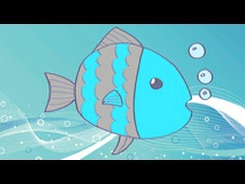 Cmo dibujar un pez Dibujos infantiles  YouTube