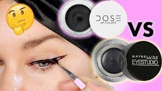 NEW DOSE OF COLORS CREAM MATTE EYELINER VS MAYBELLINE GEL EYELINER BATTLE! | Beauty Banter